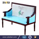 Alime Abt396喫茶店のためのカスタム現代灰色ファブリックダイナーブースのソファー