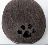 Casa material do cão e do gato de filhote de cachorro de feltro destacável do projeto do ovo