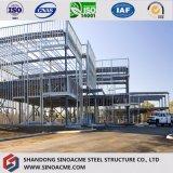 Modern Ontwerp Twee PrefabHuis van de Structuur van het Staal van de Stijging van de Verdieping het Hoge