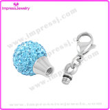Rundes Styple mit Kristall-Verbrennung-Halsketten für Aschen-Charme