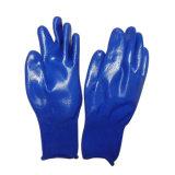 NBR des gants de protection de la moitié de feux de croisement des gants en nitrile gant de travail de la sécurité