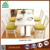 Таблица мебели столовой роскошная обедая установила с 4 стулами металла