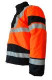 좋은 품질 주황색 사려깊은 폴리에스테 호박단 겨울 재킷 간결 작업복 일 피복 작업복 의복