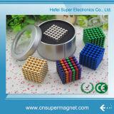 Bola magnética del aseguramiento del neodimio 3m m 5m m de los imanes de la esfera magnética comercial del cubo