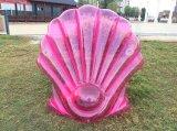 Vakantie die de Opblaasbare Shell van de Kamee Vlotter van de Mat van het Stuk speelgoed van de Pool van de Bank zwemmen