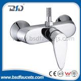 Faucet do banheiro do misturador do banho do punho da montagem polonesa da parede do cromo único