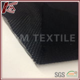 Полиэфира черная почищенная щеткой ткань 100% сетки