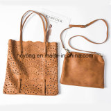 Borsa dello stilista, sacchetto di grande capienza, borsa di cuoio delle signore