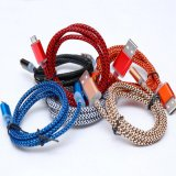 1m recouvert de nylon de chargement USB Câble pour téléphone Samsung