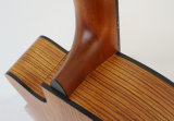 Handmade твердая верхняя акустическая гитара с Zebrawood B&S