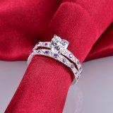 놓이는 자주색 약혼 반지 - 18
