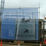 貯蔵する風抵抗力がある網の旗の塀の覆い網のビニールの旗を広告する