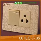 Interruptor quente da parede da venda 2gang da fábrica