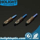 Connettore ottico della fibra di singolo modo della MU