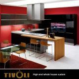 Melamin 디자인 빨간 색칠 만원 부엌 가구 Tivo-086VW
