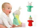 Bear et marionnettes à main de lapin en peluche de marionnettes pour bébé