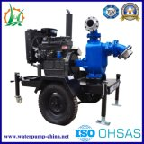 Diesel engine and Electric Self Priming Sewage Trash Centrifugal Water pump