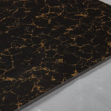 床のための二重ローディングの黒そして金のPulatiの磨かれた磁器のタイル