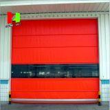 Porte à grande vitesse d'obturateur de rouleau d'Auto-Recovery de PVC de Chambre préfabriquée (Hz-HS0128)