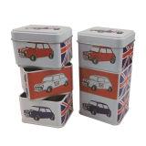 Italia chocolate Leche Premium caja de la lata de la lata del rectángulo Contanier