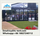 Kundenspezifisches Wedding Festzelt mit transparentem Dach und freier Wand