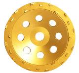 지면 제거를 위한 PCD 컵 바퀴 거친 바퀴