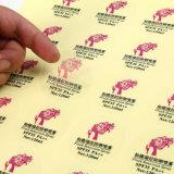 Бумага печатание стикера ярлыка Cmyk съемной изготовленный на заказ собственной личности слипчивая