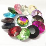 16 18 granos de cristal frustrados del Rhinestone de la punta de la plata 27m m cristalina de la parte posterior (27m m TP-Redondos)