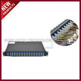 18 Kanalabstand-einzelne Faser DWDM OADM mit 2 Schlitz 1U Zahnstangen-Montierungs-System