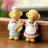 Urso com Íman de refrigerador em forma de uniforme de uniformes de cozinha para promoção (YH-RFM031)