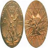 Prêmio Ouro Branco personalizadas Medalha de handebol Exército Caixa Medalhão de moedas