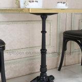 旧式な様式の黒の鋳鉄の喫茶店の円形のダイニングテーブル(SP-RT104)