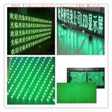 Напольный &Semi-Напольный одиночный текст зеленого цвета СИД рекламируя экран дисплея модуля