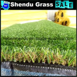 人工的な芝生の草Dragineの穴との25mm