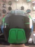Casco nero di motocross del casco del motore