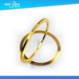 Kundenspezifischer Gold überzogener Messing-maschinell bearbeitenteil-Messingring