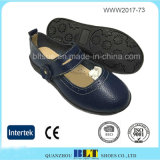 軽量の魔法ボタンの閉鎖のゴム製Outsoleの平らな女性の靴