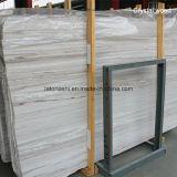 中国の高品質のカウンタートップ及び虚栄心の上のための白い木製の大理石のBookmatchの平板