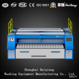 普及した3つのローラーのアイロンをかける機械産業洗濯Flatwork Ironer