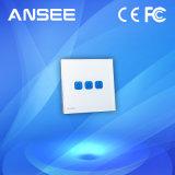 Interruptor ligero de la pantalla táctil casera elegante, 1/2/3 cuadrilla