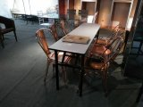 로즈 금 금속 대중음식점 호텔 커피 결혼식 Tolix 새로운 쌓을수 있는 의자