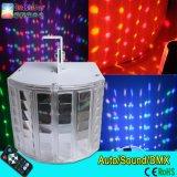 البسيطة LED ديربي الخفيفة عالية السطوع 6 3W البسيطة LED فراشة الضوء DJ ديسكو حزب ضوء مع جهاز التحكم عن بعد