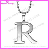 Jóias de moda Pingentes de alfabeto em aço inoxidável com corrente