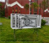 240cm Bi-Fold прямоугольная пластичная таблица, складной столик, таблица сада