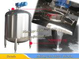 No aislado Tanque de mezcla 2000L con el costado y agitador terraja