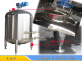 Tanque de mistura sem isolamento 2000L com agitador de varredura lateral e inferior