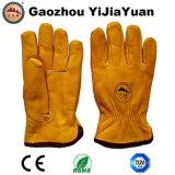 Перчатки водителя зимы безопасности кожаный для управлять