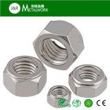 Galvanizado de metal galvanizado brida hexagonal tuerca de bloqueo (DIN580)
