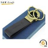Anello chiave di alta qualità di fabbricazione del metallo di cuoio rosso speciale dell'unità di elaborazione