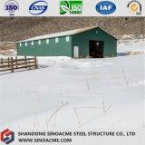 Sinoacmeのプレハブの軽い鉄骨フレームの貯蔵倉